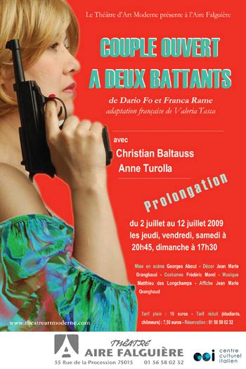 Couple ouvert à deux battants de Dario Fo et Franca Rame (www.theatreartmoderne.com)